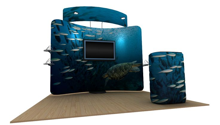 Waveline Standroid with Holders and Counter 4mx3m Display