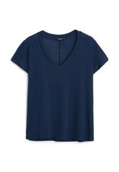Футболка Mango, цвет: синий. Артикул: MA002EWFXZ71. Женская одежда / Футболки и поло / Футболки с коротким рукавом