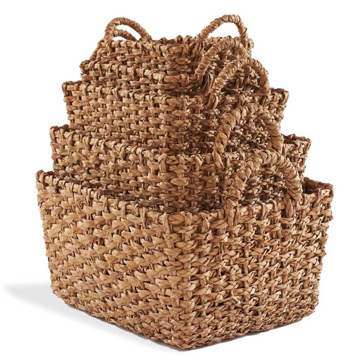 Chunky Seagrass Baskets (set of 5) - VivaTerra