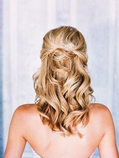 prom hairstyles half up half down curly medium hair - Google Search