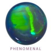 2012 AGTA Cutting Edge Award Winner: Phenomenal- 1st Place:  Robyn Dufty  DuftyWeis Opals, Inc.  Maysville, KY  27.30 ct. black Opal cat's eye.