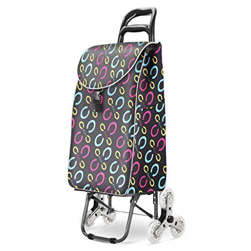 7f54e5bcf955 KTYX Climbing Shopping Cart Home Portable Folding Shopping Small ...