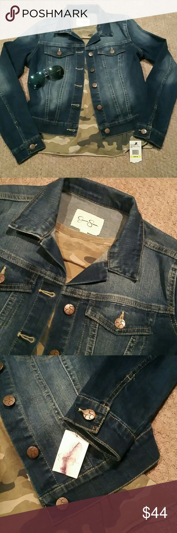 Jessica Simpson Denim Jacket Jessica Simpson Pixie Denim Jacket In the Jefford  Wash.  Size Medium Brand New With Tags. Perfect For Those Cool Nights Over Your Summer Wardrobe. Jessica Simpson Jackets & Coats Jean Jackets