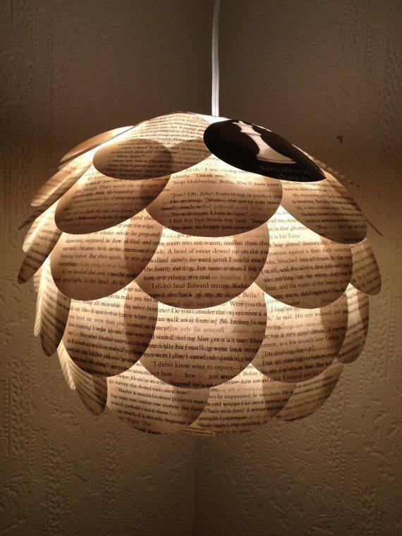 Recycled book breaking dawn paper lantern by for Recycled paper lantern