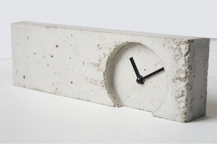 'cement desk clock' by the lab