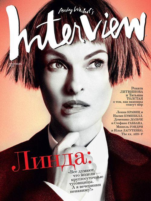 Linda Evangelista | Interview Russia: Evangelista Covers, September 2012, Fashion Magazines, Linda Evangelista, Magazines Covers, Daniel Duella, Russia September, Interview Magazines, Interview Russia