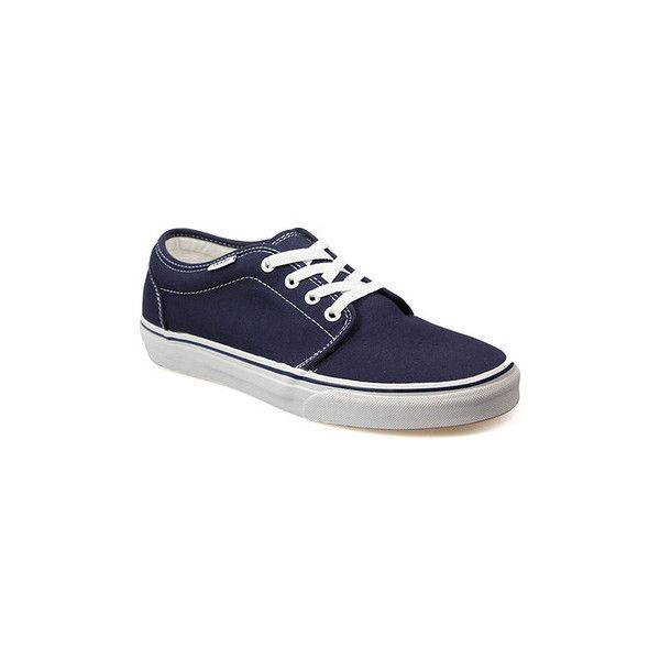 Vans Unisex 106 Vulcanized Navy Canvas Trainers Shoes (Trainers) ($71) ❤ liked on Polyvore featuring shoes, sneakers, blue, trainers, women, plimsoll shoes, vans shoes, navy blue sneakers, navy canvas sneakers and plimsoll sneaker