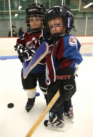cute -- My future children...except they'll be wearing Red Wings jerseys. :-)