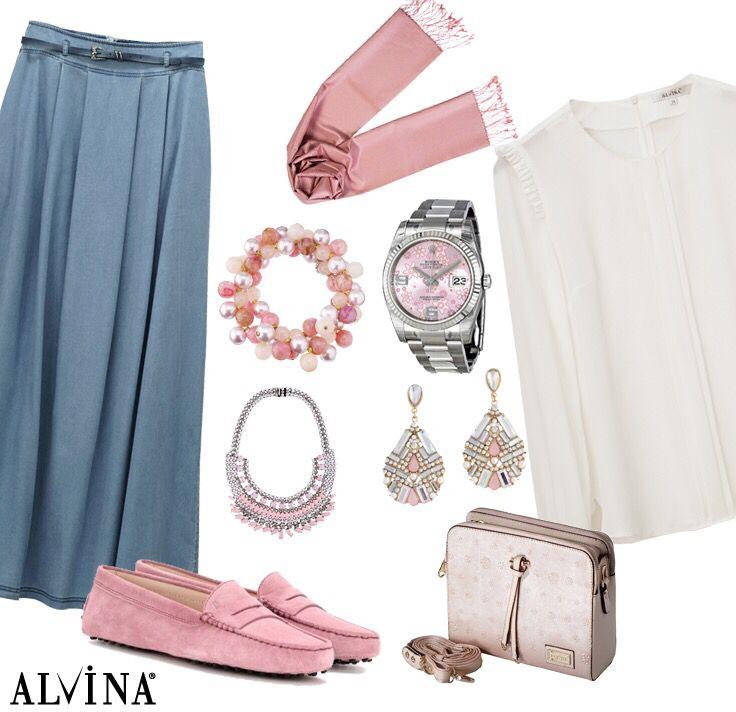 Alvina denim etek ile rahat bir stil yakalayın.. #alvina #alvinamoda #alvinafashion #alvinaforever #hijab #hijabstyle #hijabfashion #tesettür #fashion #stylish #kombin #denimrahatlığı #şık