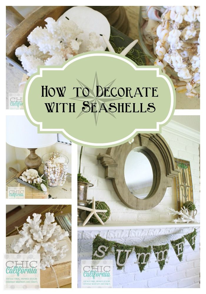 Inspired design monday how to decorate with seashells - How to decorate with seashells ...