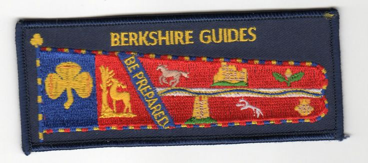 Girl Guides GIRLGUIDING BEDFORDSHIRE Country Standard Crest UK Patch New Scouts
