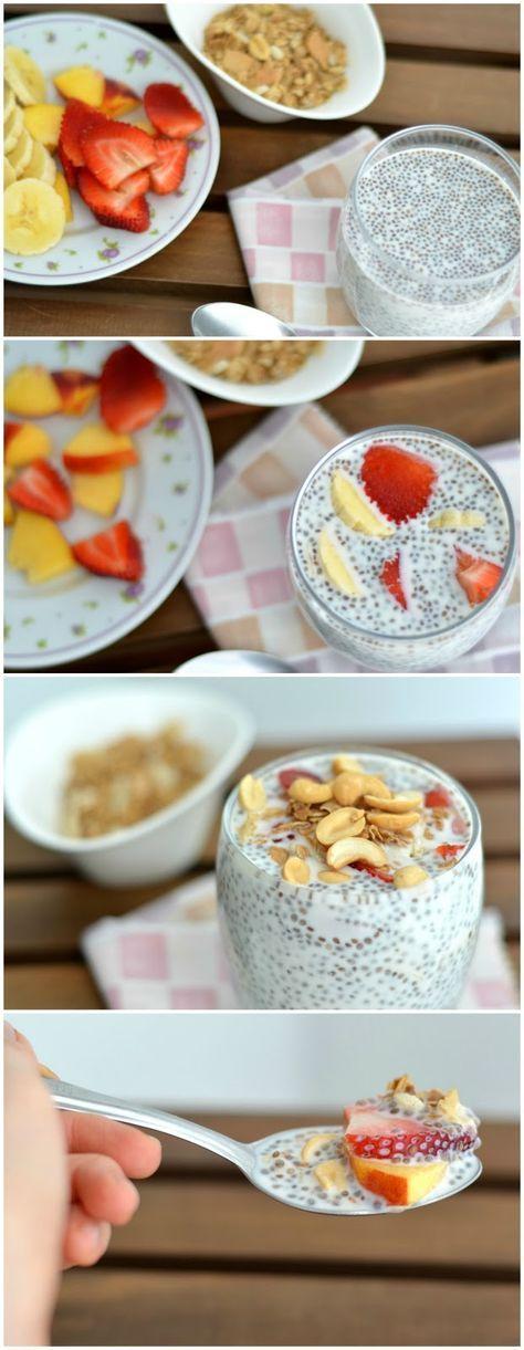 Pudín de Chía para el desayuno #saludable #estudiantes #umayor