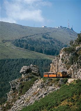 le Petit Train de La Rhune - at the top you can cross the France/Spain border just by getting a hot chocolate at the cafe!