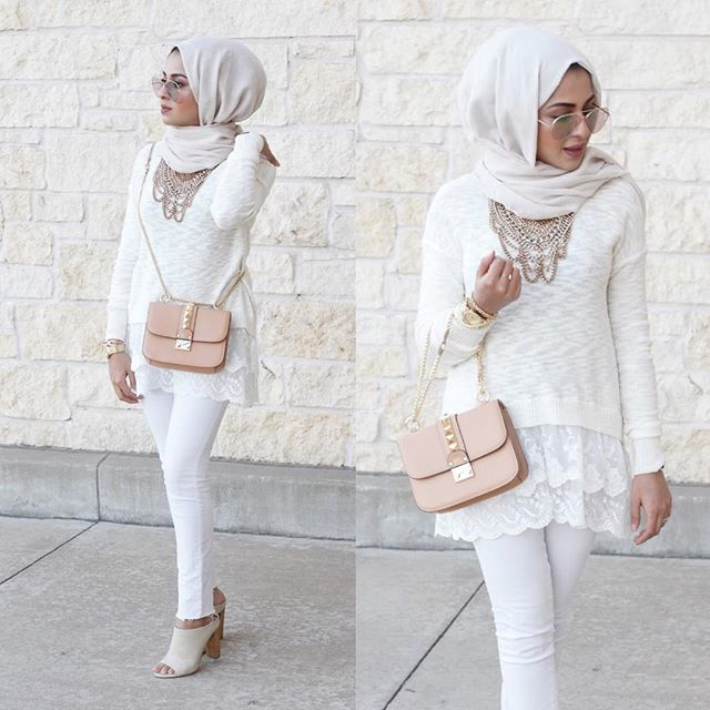 white on white hijab- Hijab looks by Sincerely Maryam http://www.justtrendygirls.com/hijab-looks-by-sincerely-maryam/