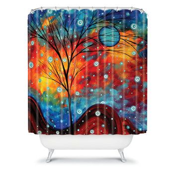 DENY Designs Madart Inc. Polyester Summer Snow Shower Curtain