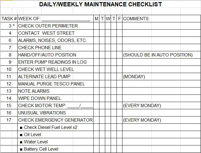 Daily Weekly Monthly Half Yearly Annually Truck Maintenance Schedule Template Vehicle Maintenance Log Excel Templates Maintenance