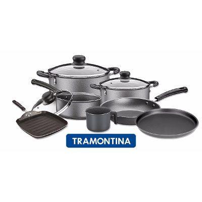 Set Bateria Juego De Cocina Tramontina Teflon 7 Unidades. - $ 2.250,00 en Mercado Libre
