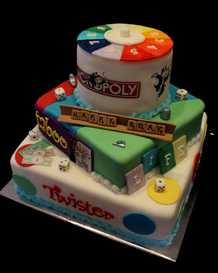 Board Game Cake! would be a great party theme for older kids