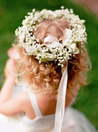 Flower girl's flower crown Toni Kami ❀Flower ❀ Girls❀ Corona halo wedding hair flowers