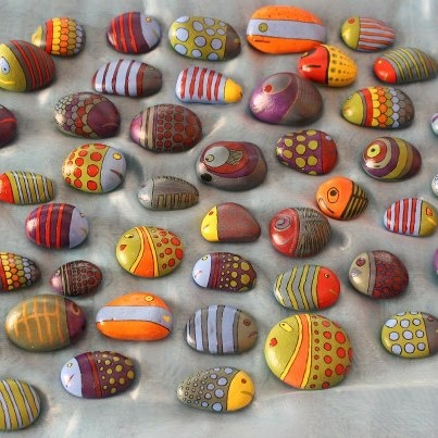 Hand painted pebbles