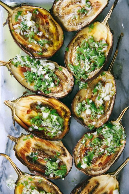 Lemon Garlic Roasted Eggplants