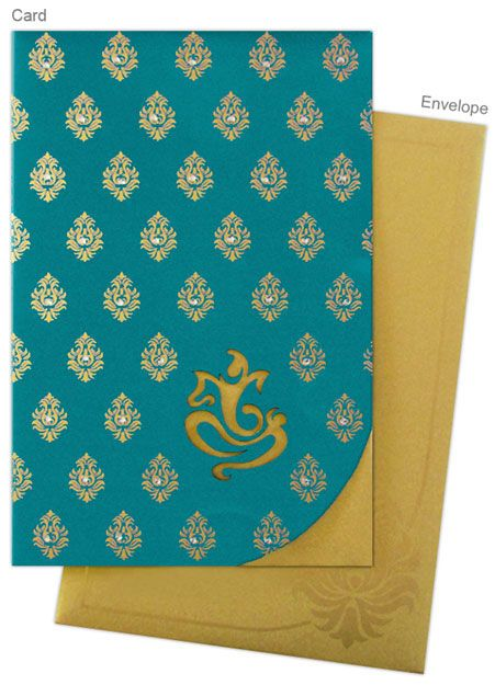 Another gorgeous invitation card from www.regalcards.com with laser cut Ganesh design.