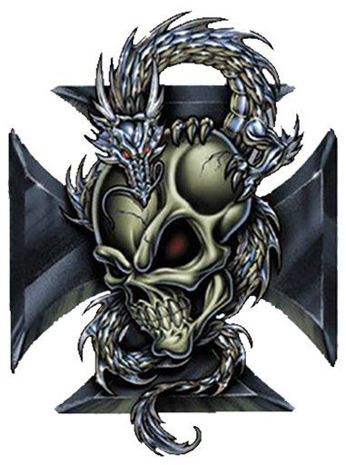 22 best iron cross images on pinterest iron steel and crosses dragon with skull tatoo wall art dragon iron cross skull shield crest contents publicscrutiny Gallery