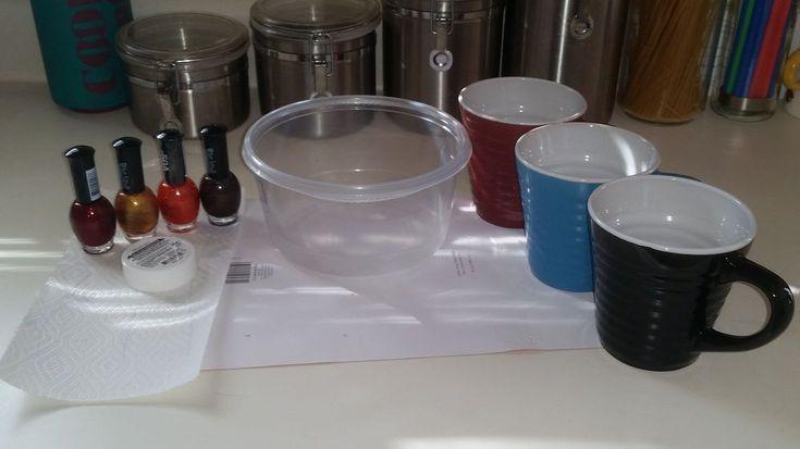 DIY Marbled Coffee Cups
