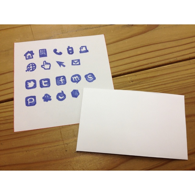 The stamp of social media. It uses for a card.