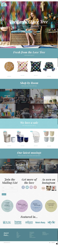 Responsive e-commerce website designed by KORE for The Family Love Tree. #responsivedesign #webdesign #wordpress #ecommerce http://kore.digital