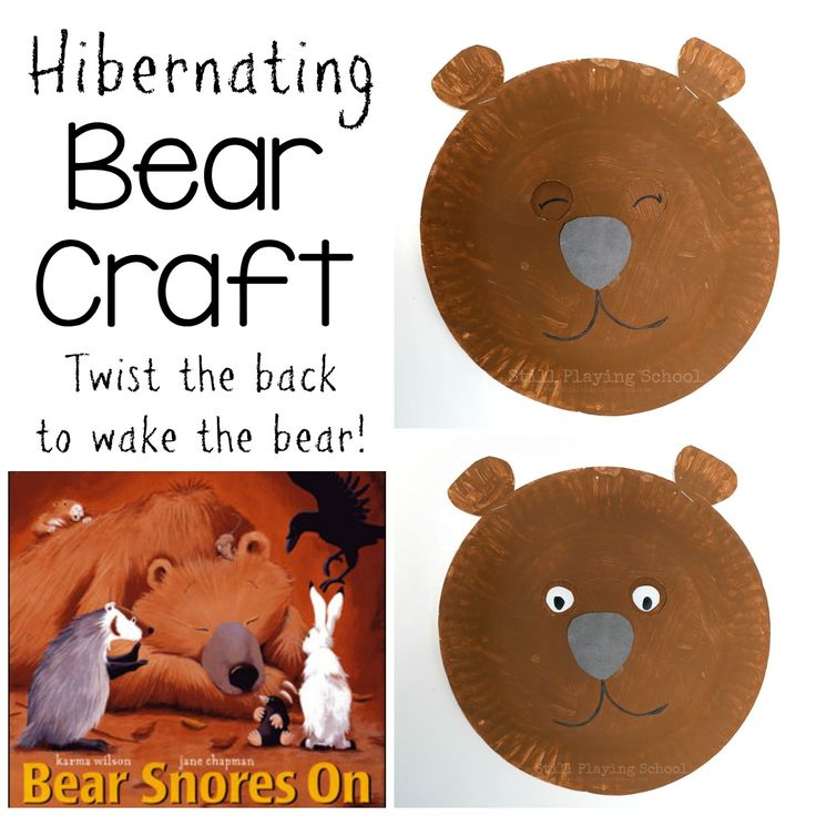 This paper plate bear craft is perfect for teaching preschoolers about hibernation!