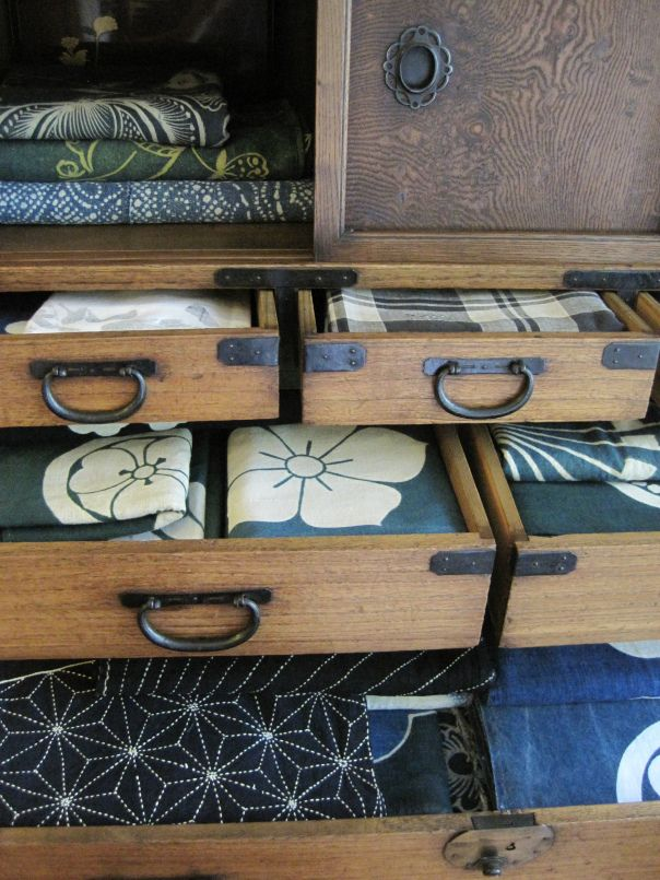 Antique Japanese textile hoard