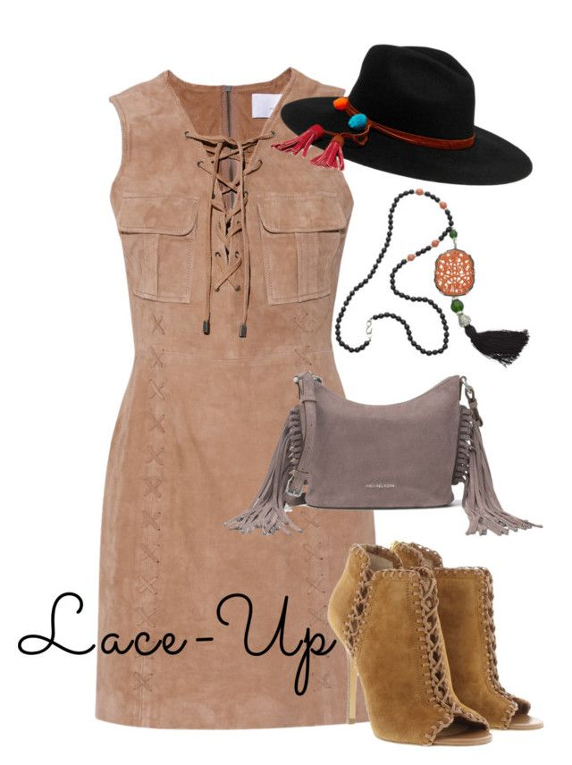 """""""lace up"""" by masayuki4499 on Polyvore featuring W118 by Walter Baker, Michael Kors, MICHAEL Michael Kors, Kenneth Jay Lane and Sensi Studio"""