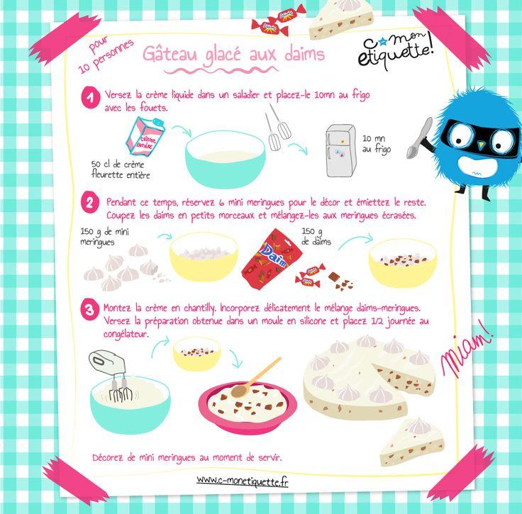 Gâteau glacé aux daims - C mon etiquette