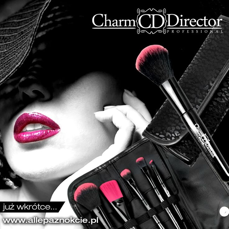 Zestawy profesjonalnych przyborów do makijażu Charm Director. Już wkrótce na allepaznokcie.pl