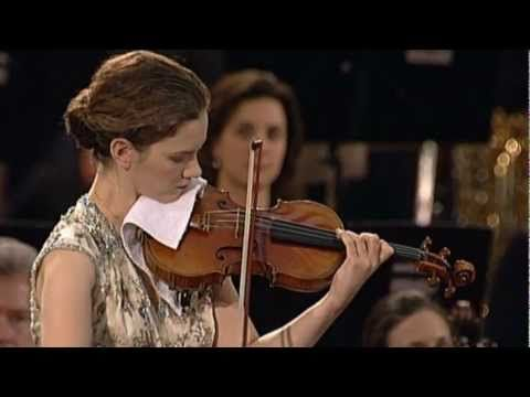"""Wolfgang Amadeus Mozart (1756 - 1791)  """"Violin Concerto No. 3 in G major, K. 216""""  (Cadenzas by Hilary Hahn)    The First Movement : Allegro    Violin : Hilary Hahn    Stuttgart Radio Symphony Orchestra  Conductor : Gustavo Dudamel    Live Recording : 16 April 2007, Aula Paolo VI, Vatican."""