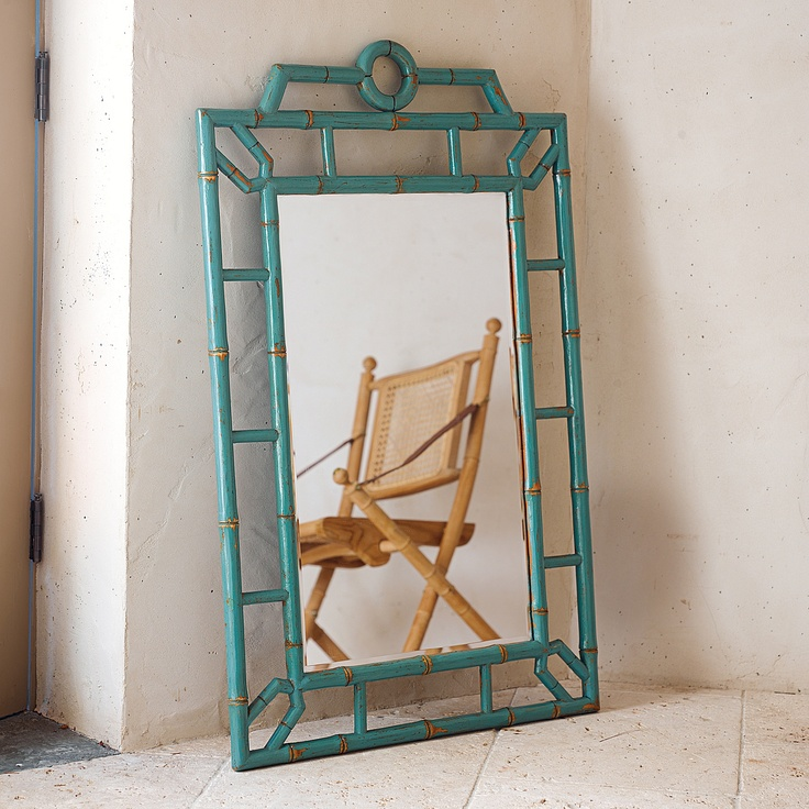 Teal Bungalow Mirror