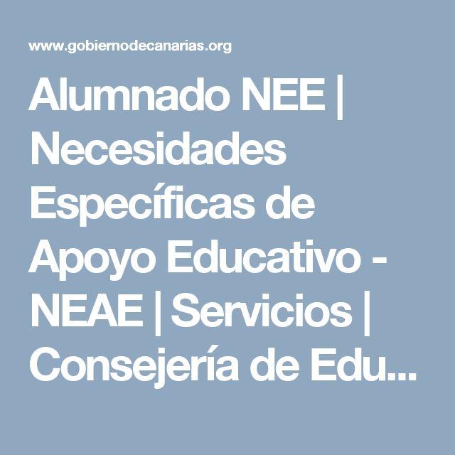 Alumnado NEE | Necesidades Específicas de Apoyo Educativo - NEAE | Servicios | Consejería de Educación y Universidades | Gobierno de Canarias
