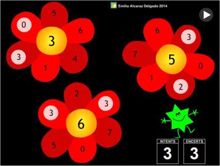 Flors que compten ! recursos web Emilia Alcaraz Ed. Infantil