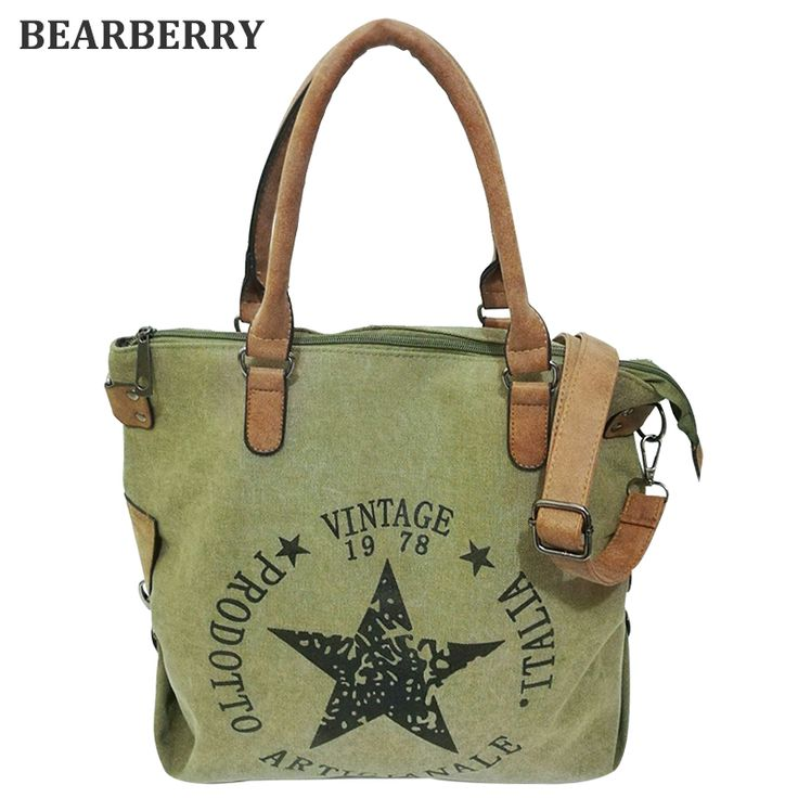 BEARBERRY 2017 high quality printed star letters canvas bags Big Size Multifunctional Travel Shoulder Bag Factory Outlet Bolsos  #Affiliate