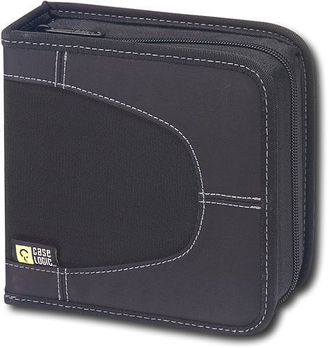 Case Logic - 16-Disc CD Wallet - Black, CDW16