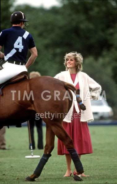 Princess Diana with Prince Charles at a Polo Match in Windsor 1984