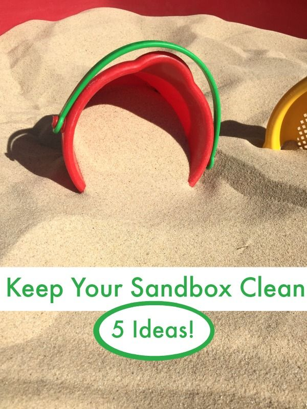 Try these ideas to help keep the sandbox clean and keep the yucky things away all summer long!