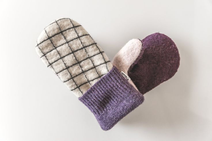 Women's Wool Sweater Mitten ♥ For the Mathematician