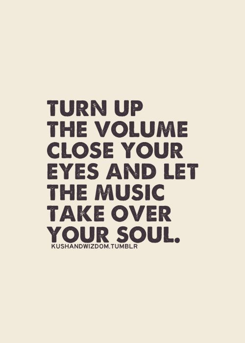 Turn up the volume. Close your eyes and let the music take over your soul. LO