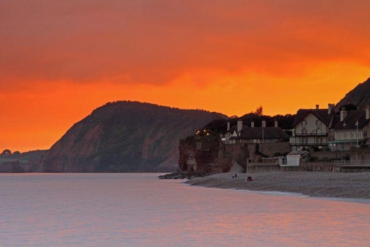 Sidmouth sunset, Devon seascape