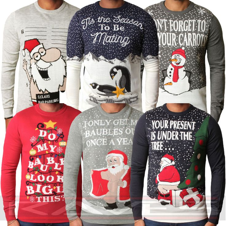 mens funny christmas jumpers