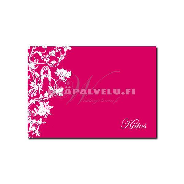 Kukkapuu -tyylin kiitoskortit