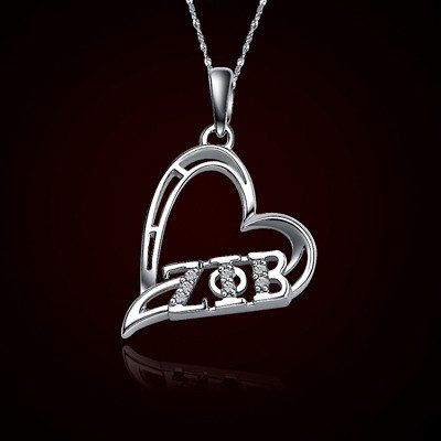 Zeta Phi Beta Sorority Heart Charm - GSTC-HeartCharm