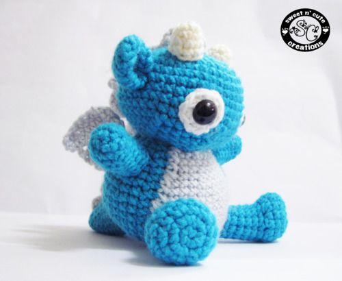 Petit bébé  dragon tout mignon crochet amigurumi patron gratuit français  ( free pattern )